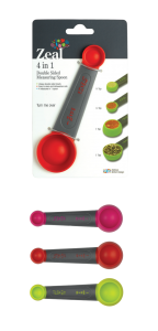 NV54DISP 4 in 1 Double Sided Measuring Spoon Colours