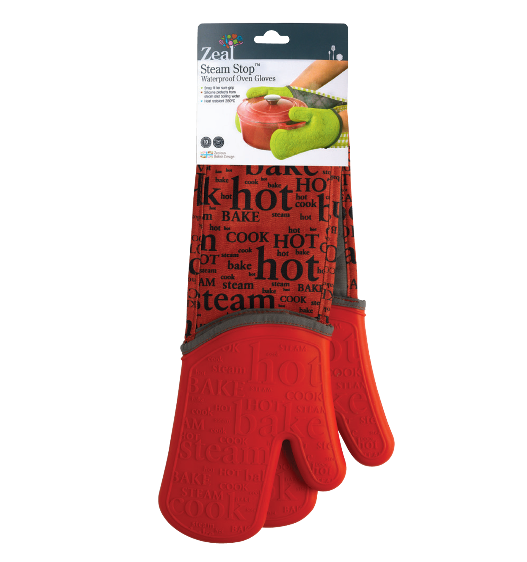 Steam Stop™ Waterproof Double Oven Gloves