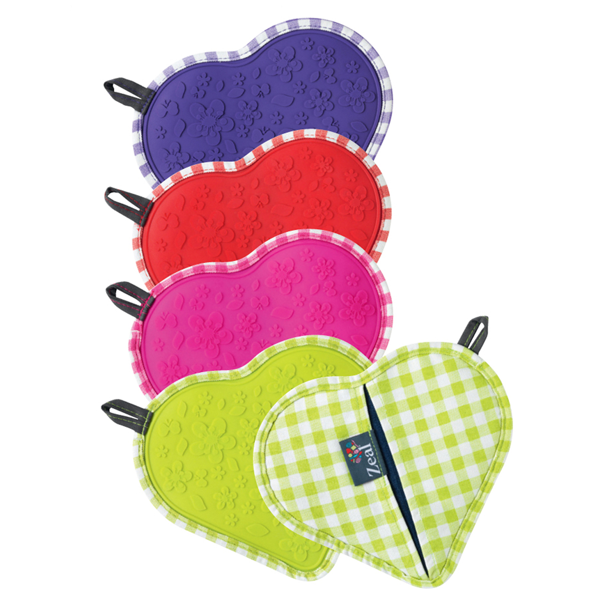 Dual Function Kitchen Heart Gingham Hot Grab