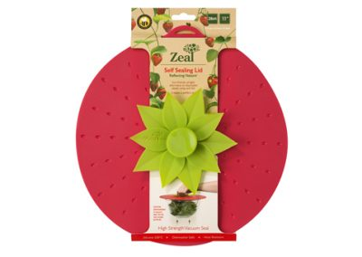 11″ Strawberry Push to Seal Lid