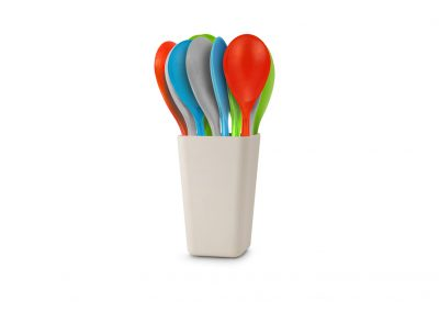Bamboo Fibre Round Spoon