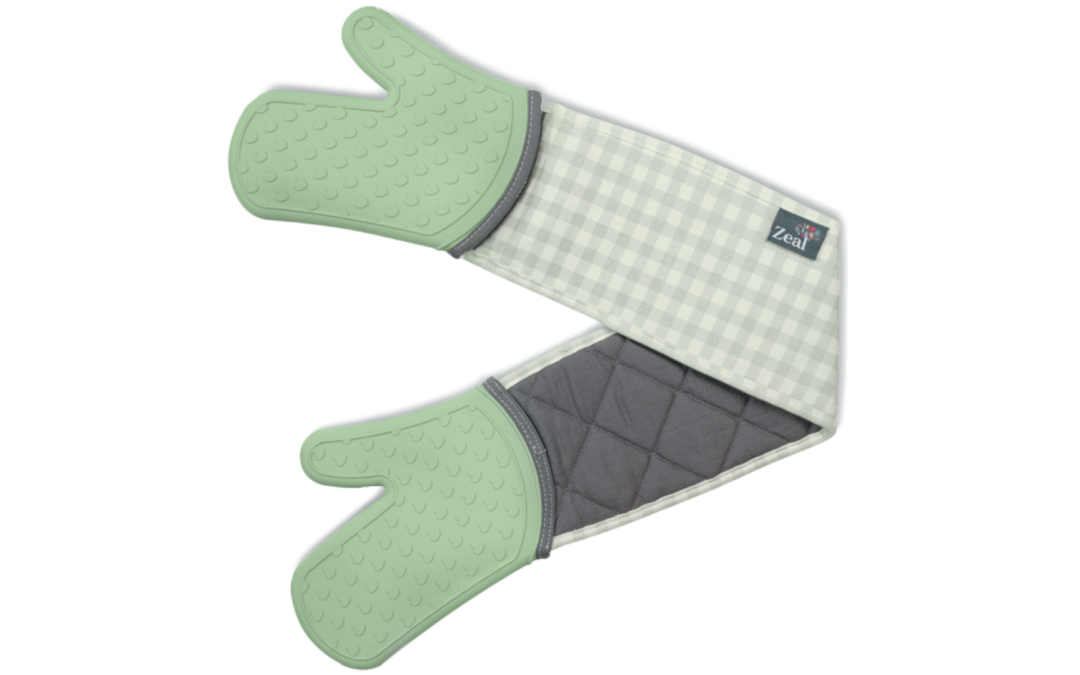 Steam Stop™ Waterproof Coastal Double Oven Gloves